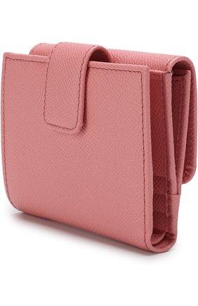 Женские кожаный кошелек с тиснением dauphine DOLCE & GABBANA розового цвета, арт. BI1027/AU771 | Фото 2