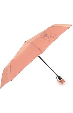 Складной зонт с принтом Moschino синий | Фото №1
