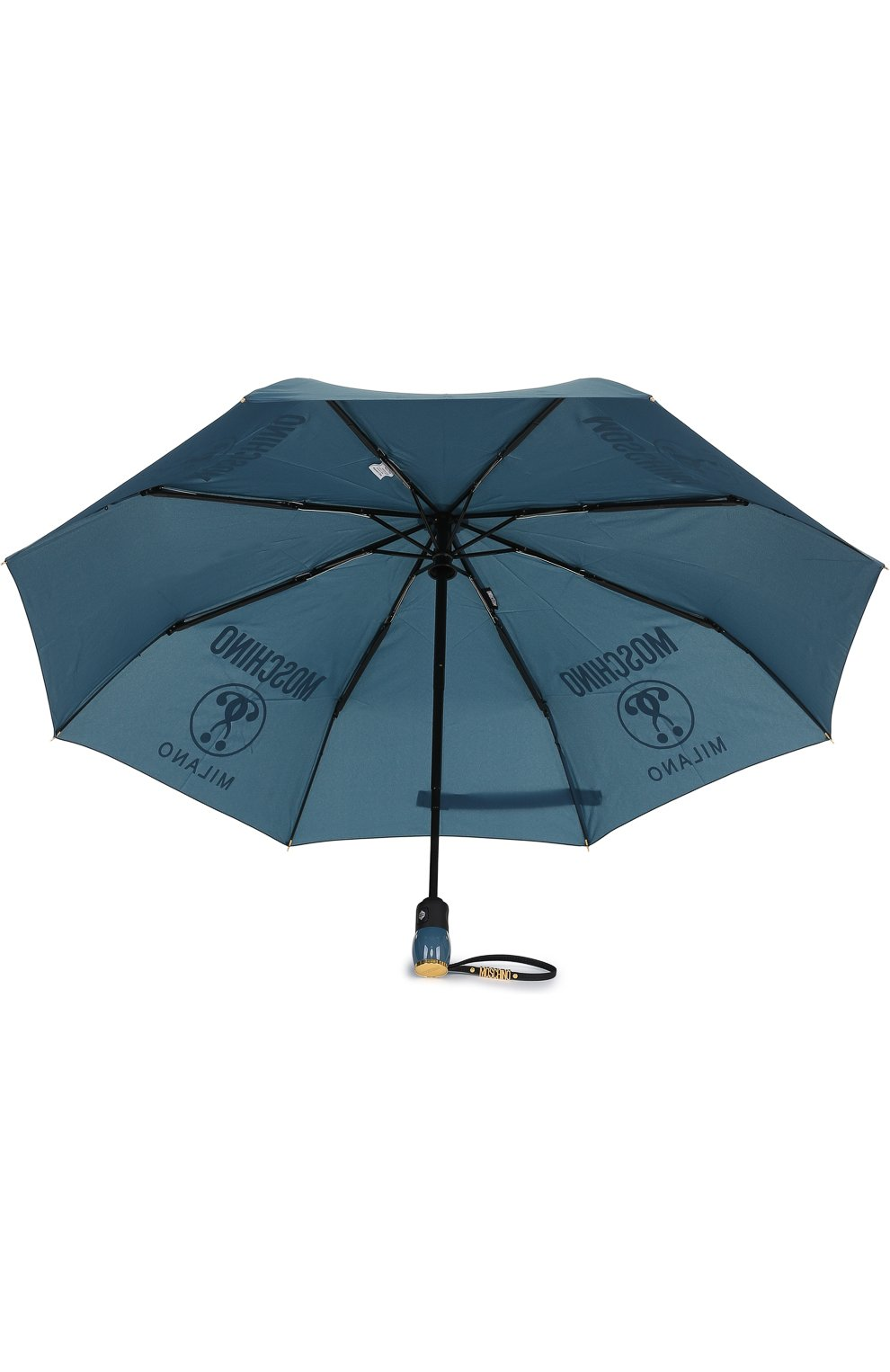 Складной зонт с принтом Moschino синий   Фото №3