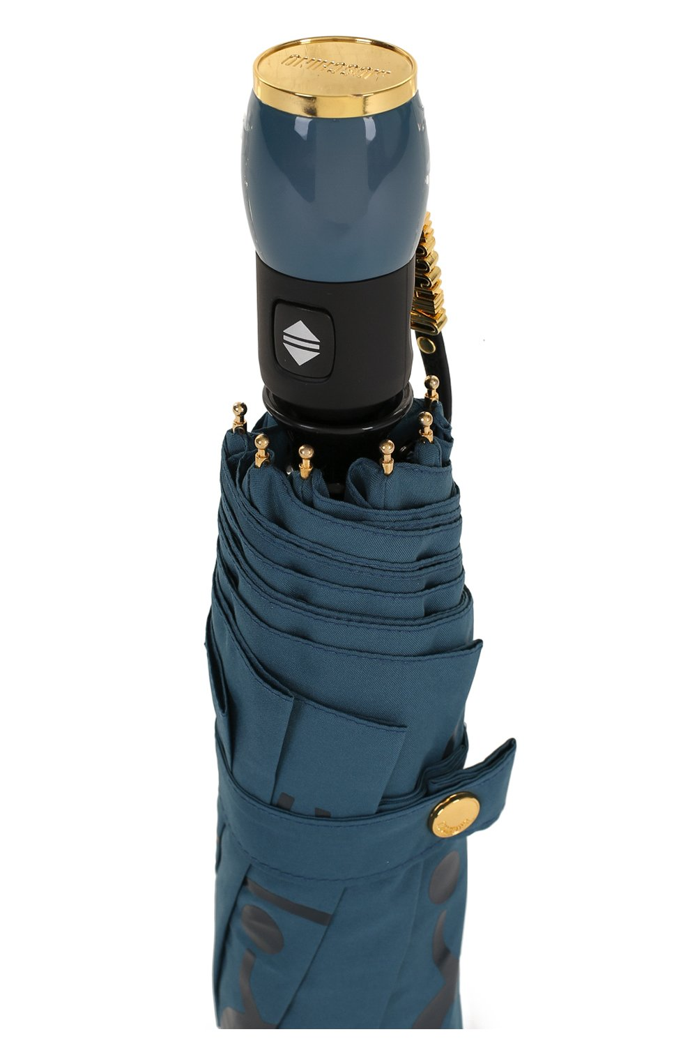 Складной зонт с принтом Moschino синий   Фото №5