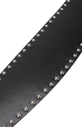 Кожаный ремень с металлическими заклепками   Фото №3
