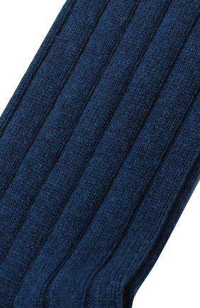 Женские кашемировые носки LORO PIANA бирюзового цвета, арт. FAF8553 | Фото 2