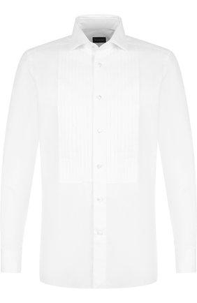 Мужская хлопковая сорочка под смокинг ERMENEGILDO ZEGNA белого цвета, арт. 301970/9MCMRM | Фото 1