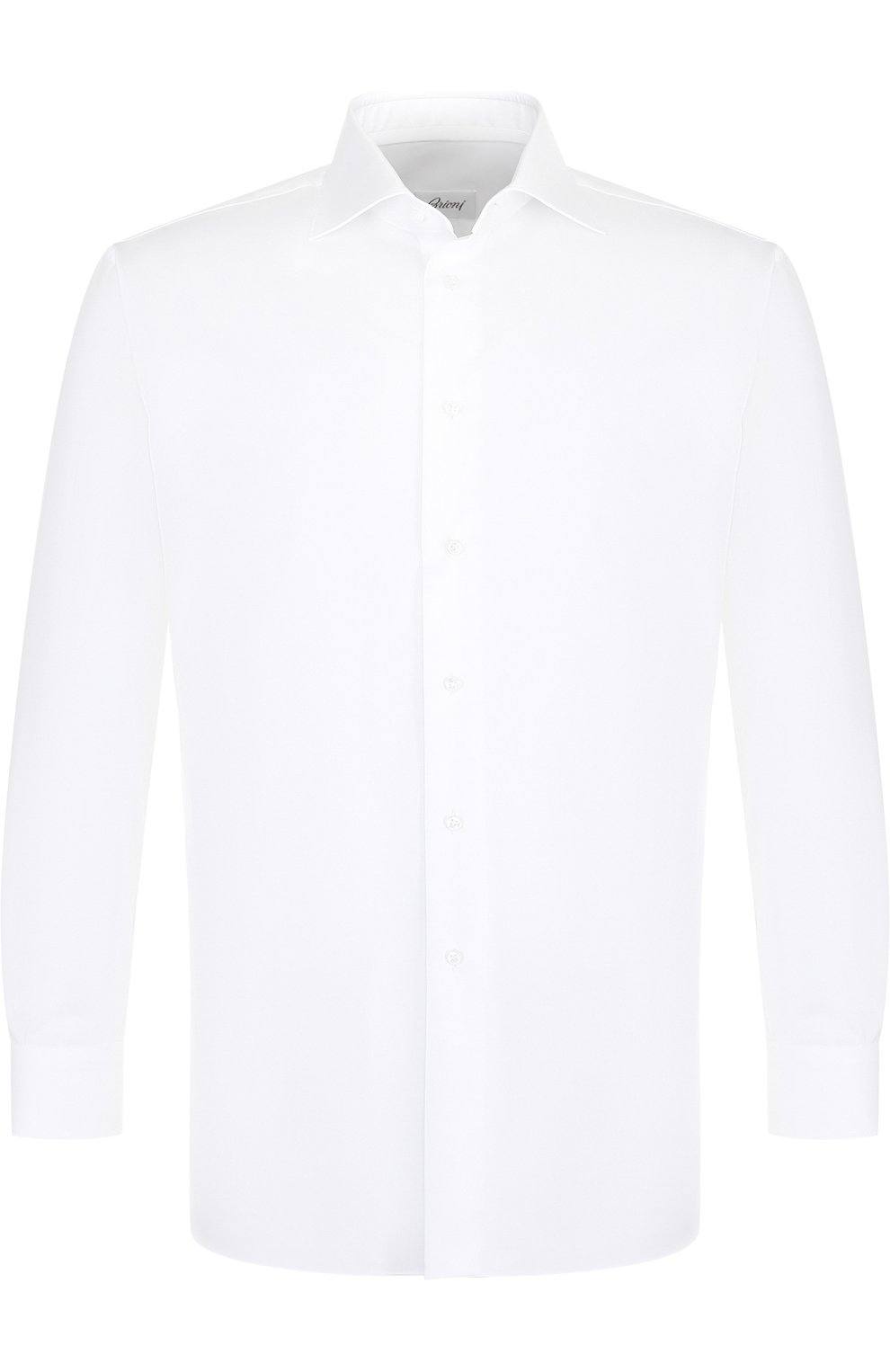 Мужская хлопковая сорочка BRIONI белого цвета, арт. RCLU2R/PZ023   Фото 1