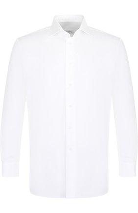 Мужская хлопковая сорочка BRIONI белого цвета, арт. RCLU2R/PZ023 | Фото 1