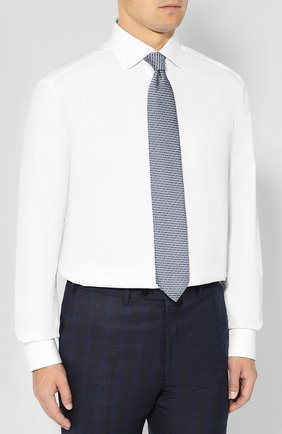 Мужская хлопковая сорочка BRIONI белого цвета, арт. RCLU2R/PZ023   Фото 4