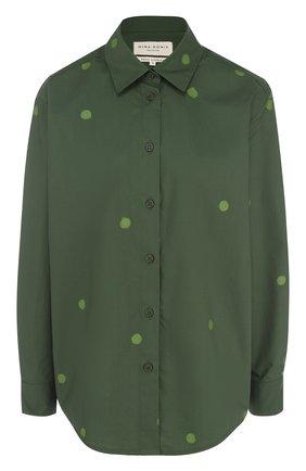 Хлопковая блуза в горох | Фото №1