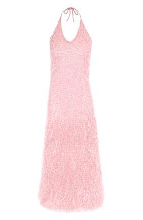 Однотонное платье-миди с открытой спиной | Фото №1