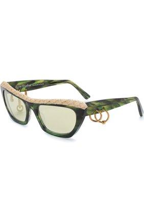 Солнцезащитные очки Acne Studios бежевые | Фото №1