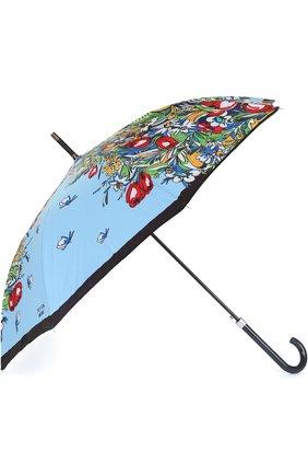 Зонт-трость с принтом Moschino светло-голубой | Фото №1