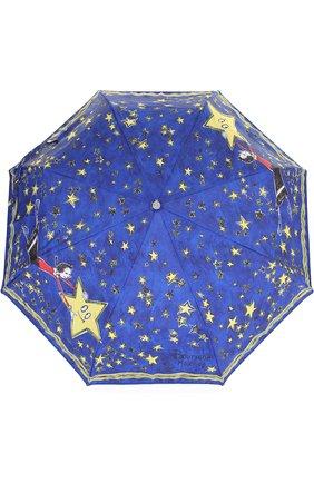 Женский складной зонт с принтом MOSCHINO синего цвета, арт. 7036-0PENCL0SE | Фото 1