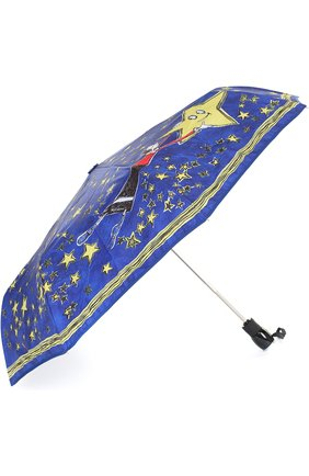 Женский складной зонт с принтом MOSCHINO синего цвета, арт. 7036-0PENCL0SE | Фото 2