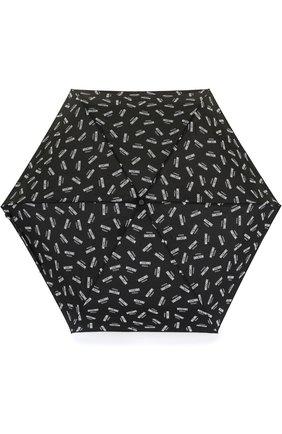 Женский складной зонт с принтом MOSCHINO черного цвета, арт. 8018-SUPERMINI | Фото 1