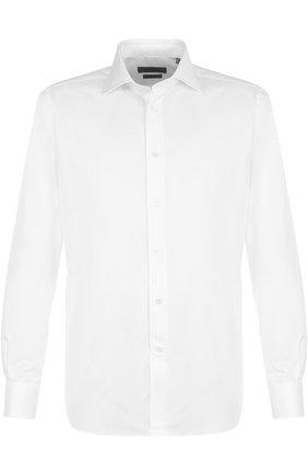 Мужская хлопковая сорочка CORNELIANI белого цвета, арт. 82P100-8811264/00 | Фото 1