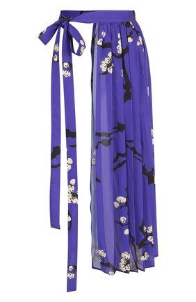 Текстильный пояс с цветочным принтом | Фото №1
