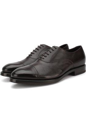Мужские классические кожаные оксфорды H`D`S`N BARACCO темно-коричневого цвета, арт. 57309.1* | Фото 1