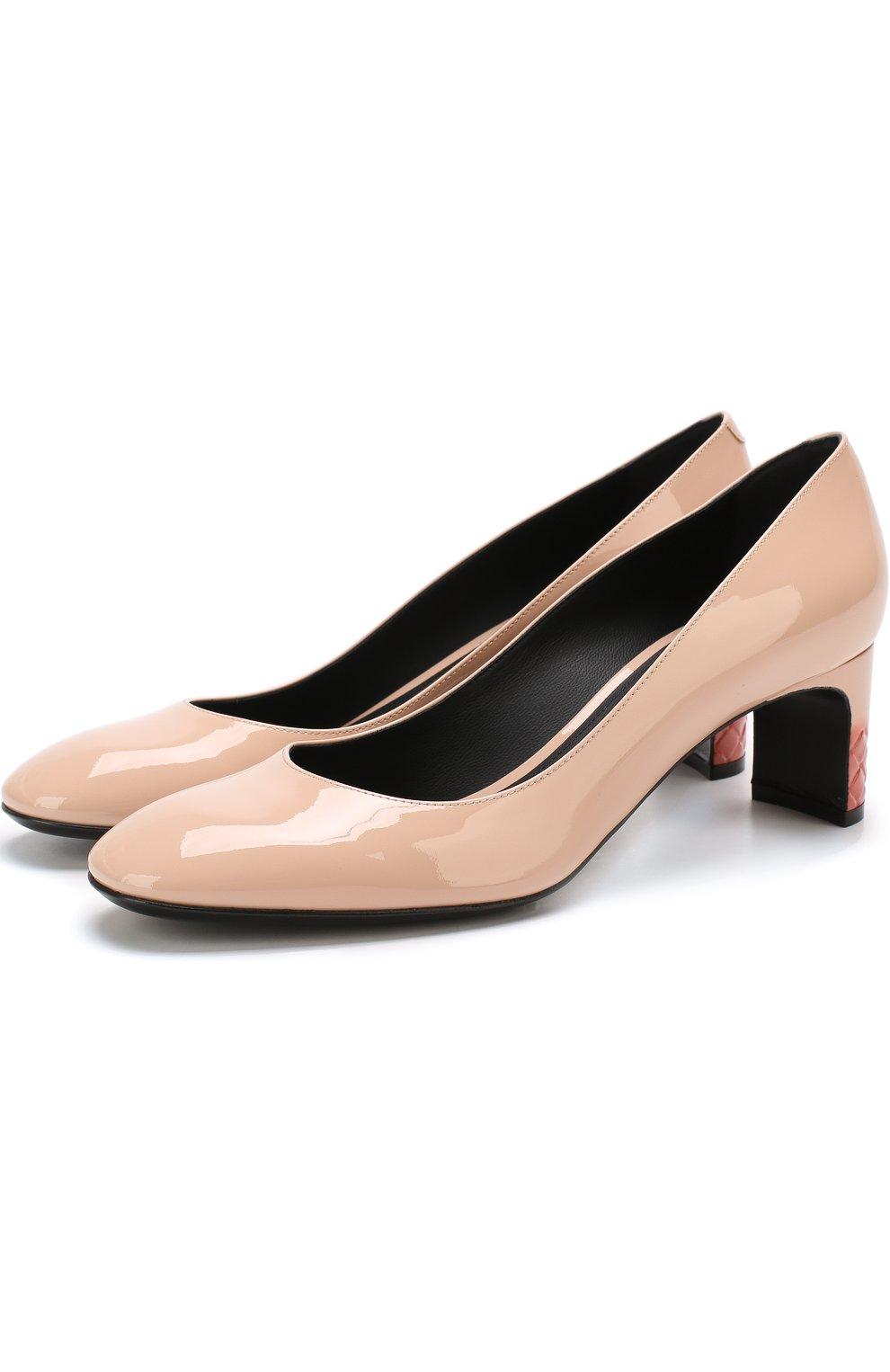 Лаковые туфли на устойчивом каблуке | Фото №1