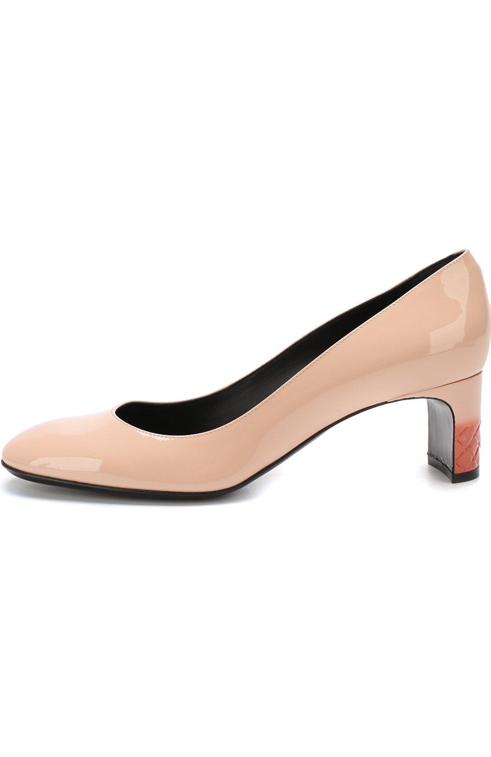 Лаковые туфли на устойчивом каблуке | Фото №3