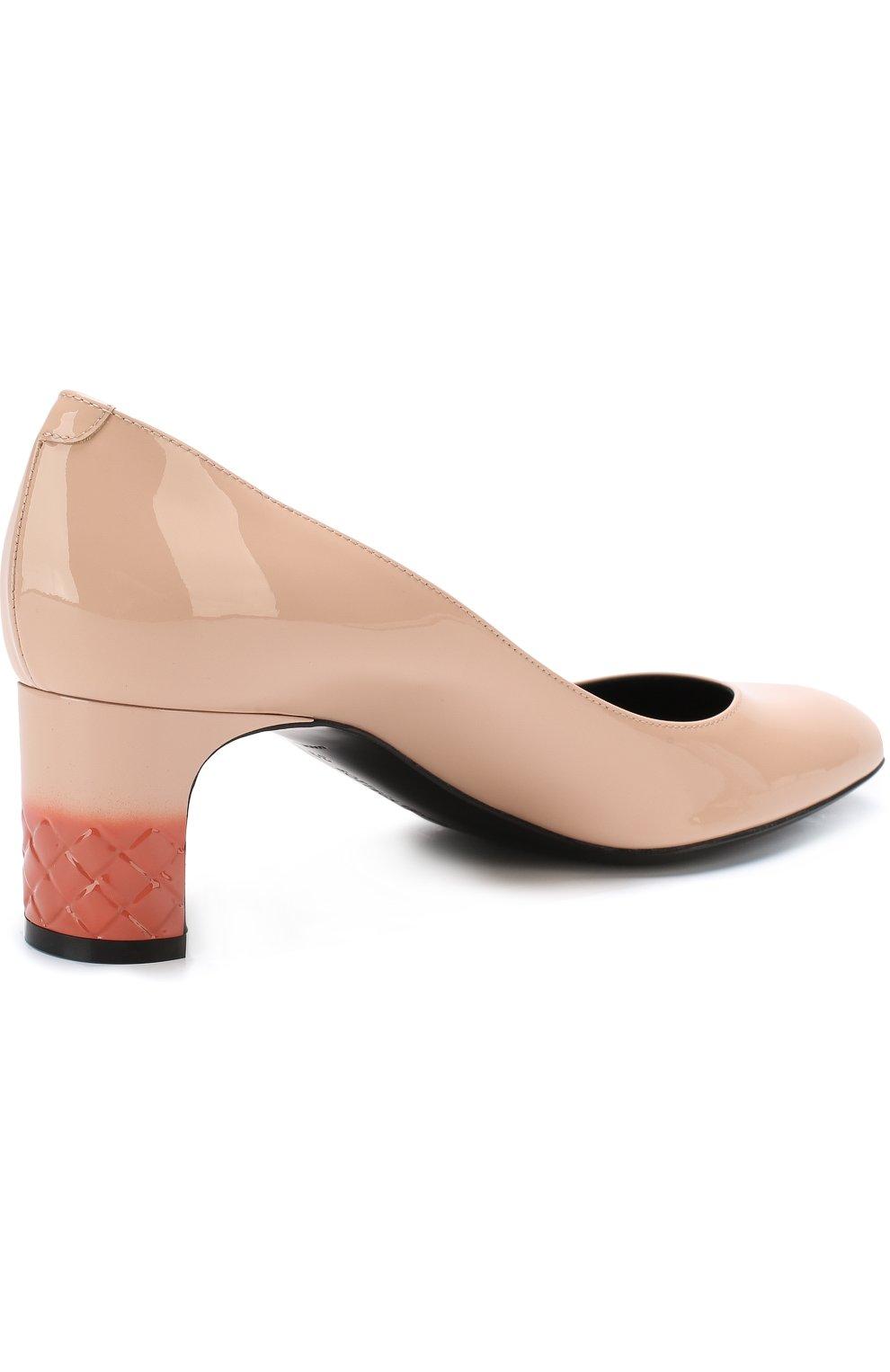 Лаковые туфли на устойчивом каблуке | Фото №4