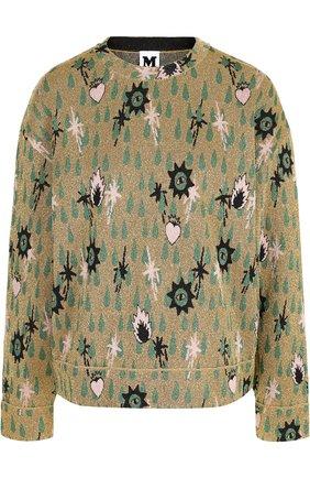 Пуловер с круглым вырезом и металлизированной нитью M Missoni золотой | Фото №1