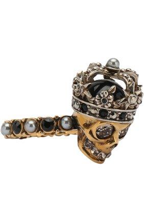 Кольцо с черепом и отделкой кристаллами Swarovski | Фото №1