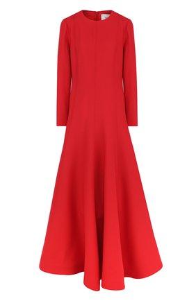 Однотонное платье-макси из смеси шерсти и шелка | Фото №1