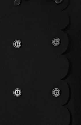Шерстяное пончо с воротником-стойкой REDVALENTINO черная | Фото №5