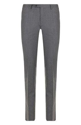 Мужской шерстяные брюки прямого кроя CORNELIANI серого цвета, арт. 825264-8818111/02 | Фото 1