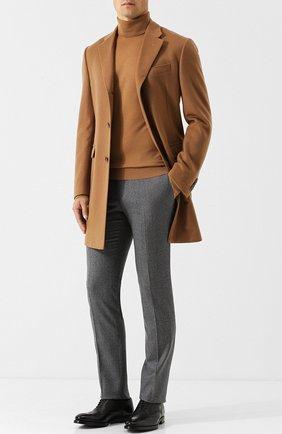 Мужской шерстяные брюки прямого кроя CORNELIANI серого цвета, арт. 825264-8818111/02 | Фото 2