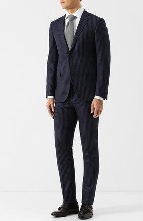 Мужской шерстяной костюм с пиджаком на двух пуговицах CORNELIANI темно-синего цвета, арт. 827230-8817293/92 Q1 | Фото 1