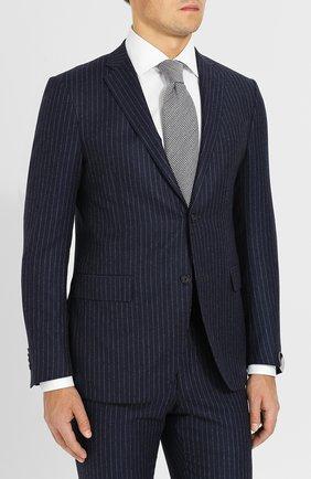 Мужской шерстяной костюм с пиджаком на двух пуговицах CORNELIANI темно-синего цвета, арт. 827230-8817293/92 Q1 | Фото 2