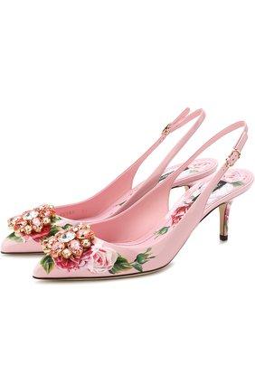Лаковые туфли Bellucci на каблуке kitten heel | Фото №1