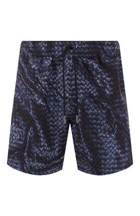 Мужские плавки-шорты BOTTEGA VENETA синего цвета, арт. 520193/4V007   Фото 1