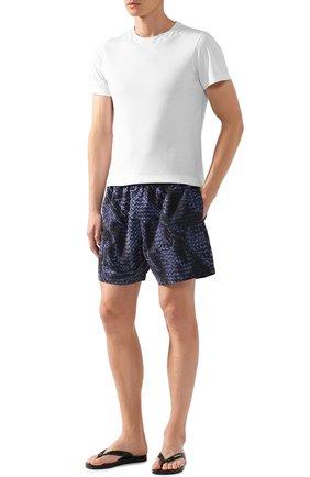 Мужские плавки-шорты BOTTEGA VENETA синего цвета, арт. 520193/4V007   Фото 2