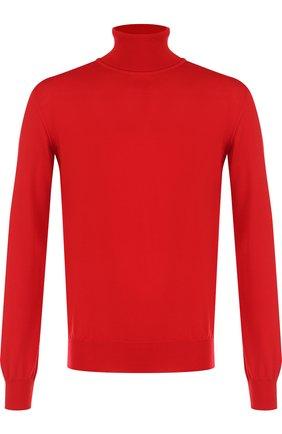 Однотонная шерстяная водолазка Brioni красный | Фото №1