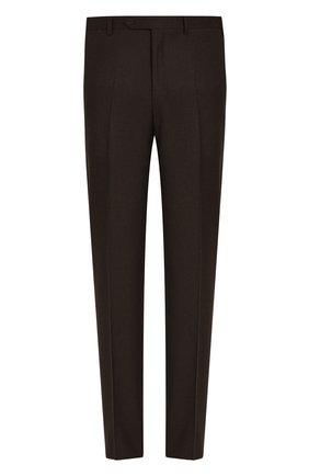 Мужской шерстяные брюки CANALI темно-коричневого цвета, арт. 71012/AN00019 | Фото 1