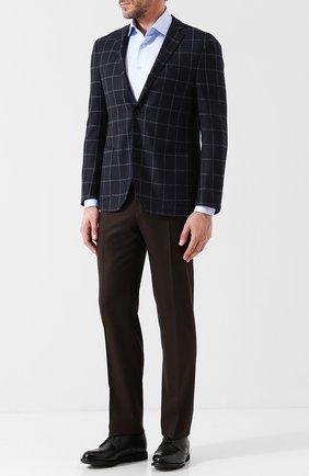 Мужской шерстяные брюки CANALI темно-коричневого цвета, арт. 71012/AN00019 | Фото 2