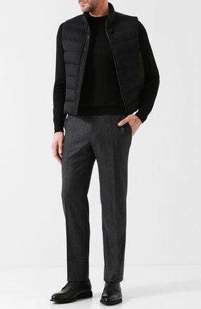 Мужской шерстяные брюки CANALI темно-серого цвета, арт. 71012/AN00019 | Фото 2
