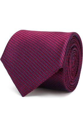 Шелковый галстук Canali фуксия цвета   Фото №1