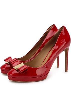Лаковые туфли Osimo на шпильке Salvatore Ferragamo красные | Фото №1