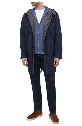 Мужские джинсы LORO PIANA темно-синего цвета, арт. FAF8892   Фото 2