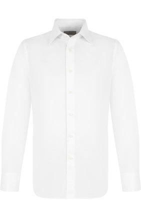 Мужская хлопковая сорочка с воротником акула CANALI белого цвета, арт. X05/GA00094/S | Фото 1