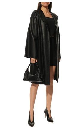 Женские кожаные ботильоны vania 85 GIANVITO ROSSI черного цвета, арт. G20496.85RIC.VITNER0   Фото 2 (Статус проверки: Проверено, Проверена категория; Материал внутренний: Натуральная кожа; Подошва: Плоская; Каблук тип: Шпилька; Каблук высота: Высокий)