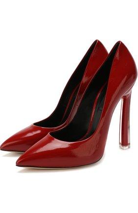 Лаковые туфли на шпильке Blade  Casadei красные   Фото №1