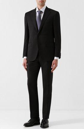 Мужской шерстяной костюм с пиджаком на двух пуговицах CORNELIANI черного цвета, арт. 827268-8818150/92 Q1   Фото 1
