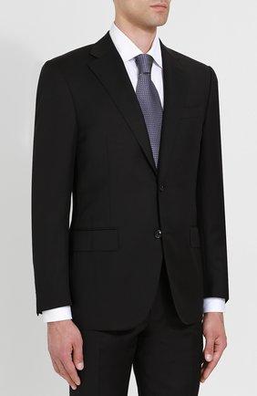 Мужской шерстяной костюм с пиджаком на двух пуговицах CORNELIANI черного цвета, арт. 827268-8818150/92 Q1   Фото 2