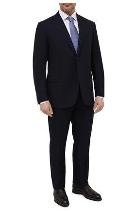 Мужской шерстяной костюм CORNELIANI темно-синего цвета, арт. 827268-8818414/92 Q1 | Фото 1 (Рукава: Длинные; Материал внешний: Шерсть; Костюмы М: Однобортный; Стили: Классический; Статус проверки: Проверена категория)