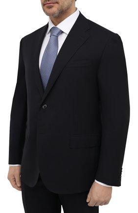 Мужской шерстяной костюм CORNELIANI темно-синего цвета, арт. 827268-8818414/92 Q1 | Фото 2 (Рукава: Длинные; Материал внешний: Шерсть; Костюмы М: Однобортный; Стили: Классический; Статус проверки: Проверена категория)