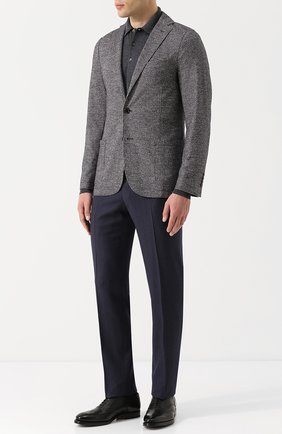 Мужской однобортный пиджак из смеси шерсти и хлопка ELEVENTY UOMO серого цвета, арт. 979JA3001 JAC26057 | Фото 2