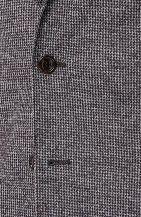 Мужской однобортный пиджак из смеси шерсти и хлопка ELEVENTY UOMO серого цвета, арт. 979JA3001 JAC26057   Фото 5